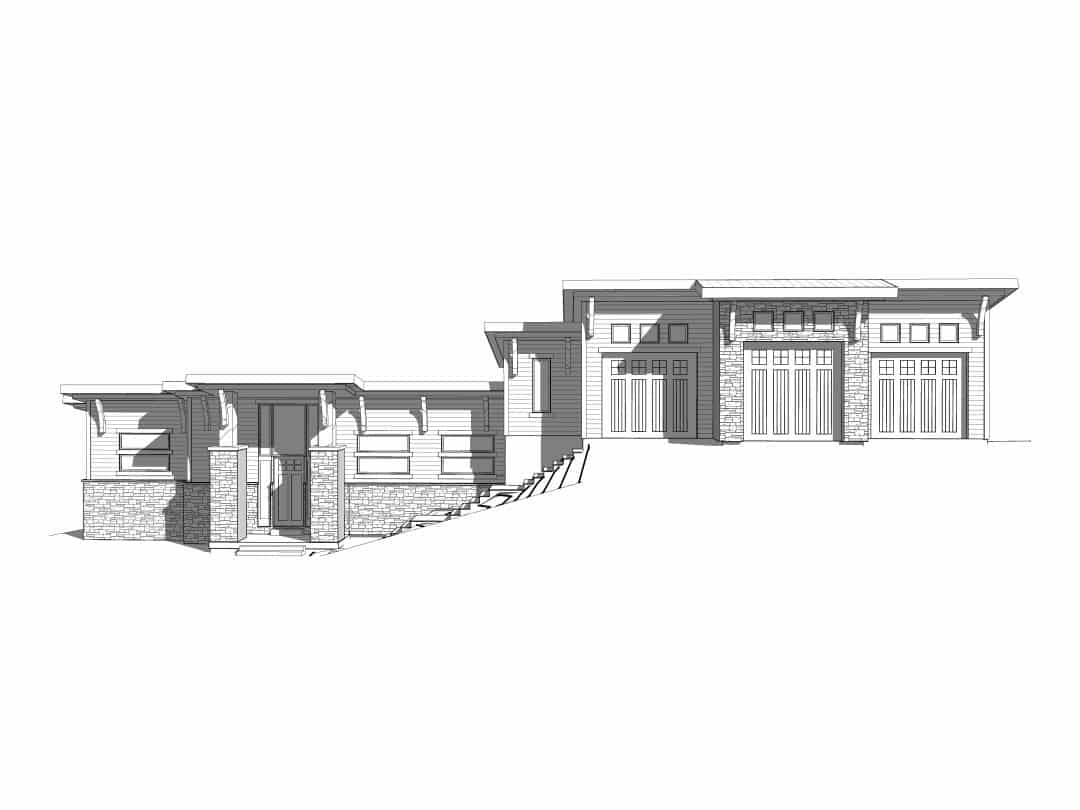 Evergreen House Plan Elevation