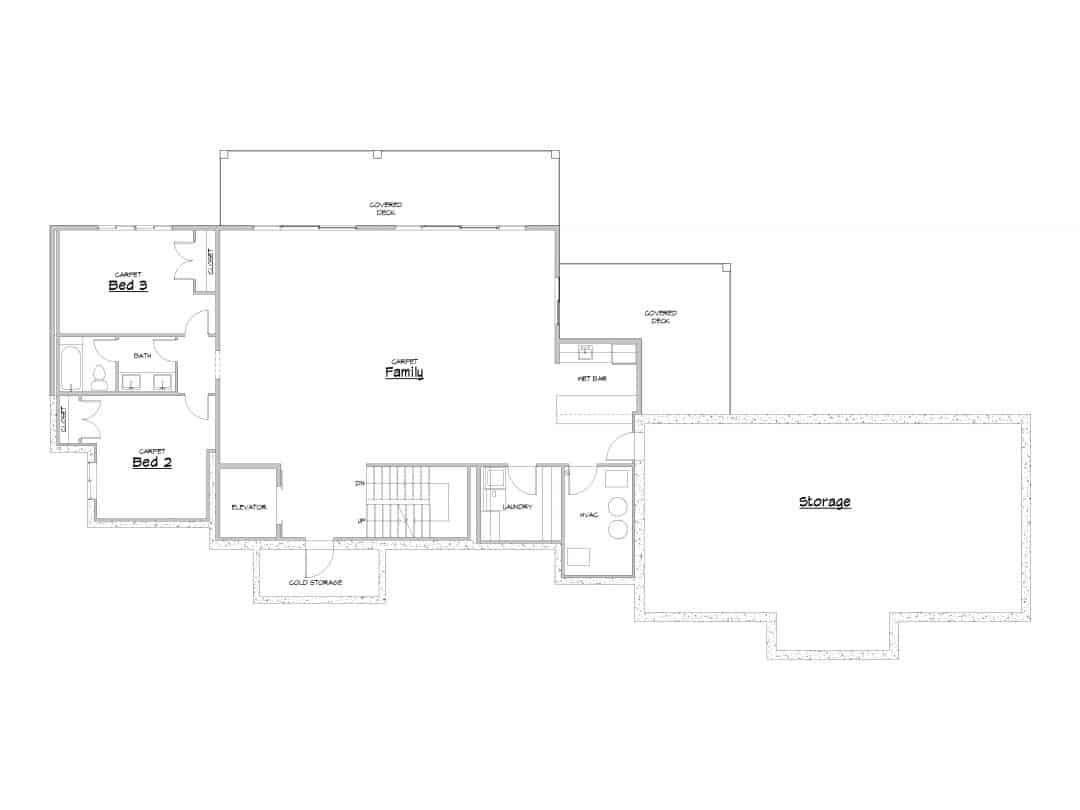 Evergreen Lower Level House Plan