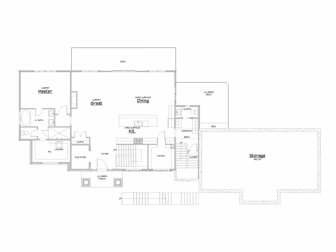 Evergreen Main Level House Plan