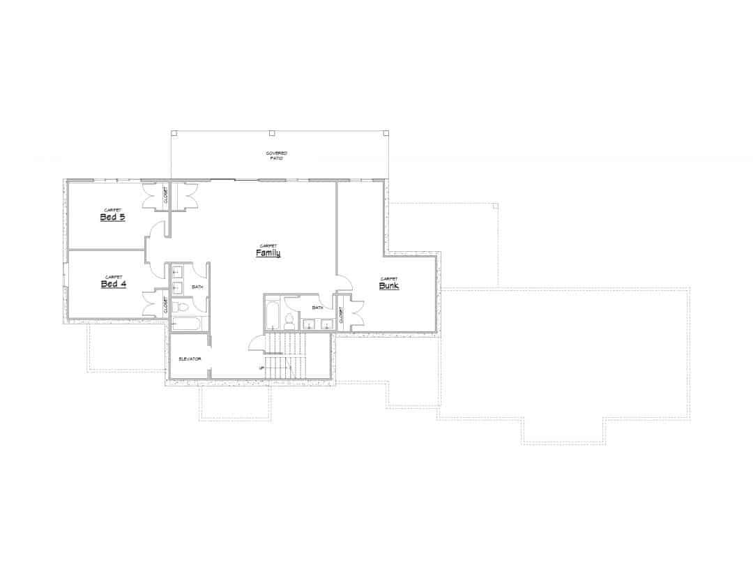 Evergreen Sub Level House Plan