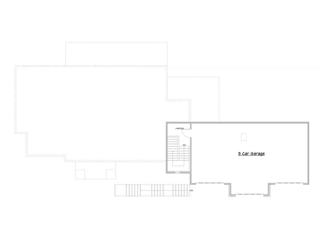 Evergreen Upper Level House Plan