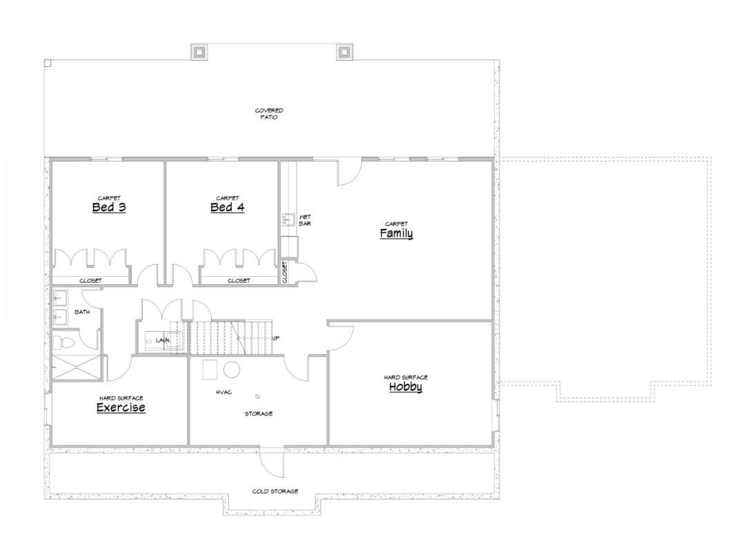 Cedar Creek Basement House Plan