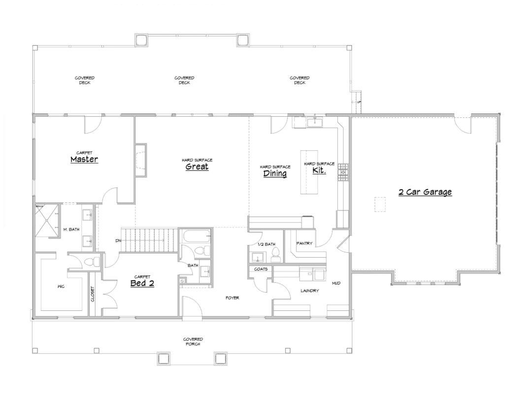 Cedar Creek Main Level House Plan