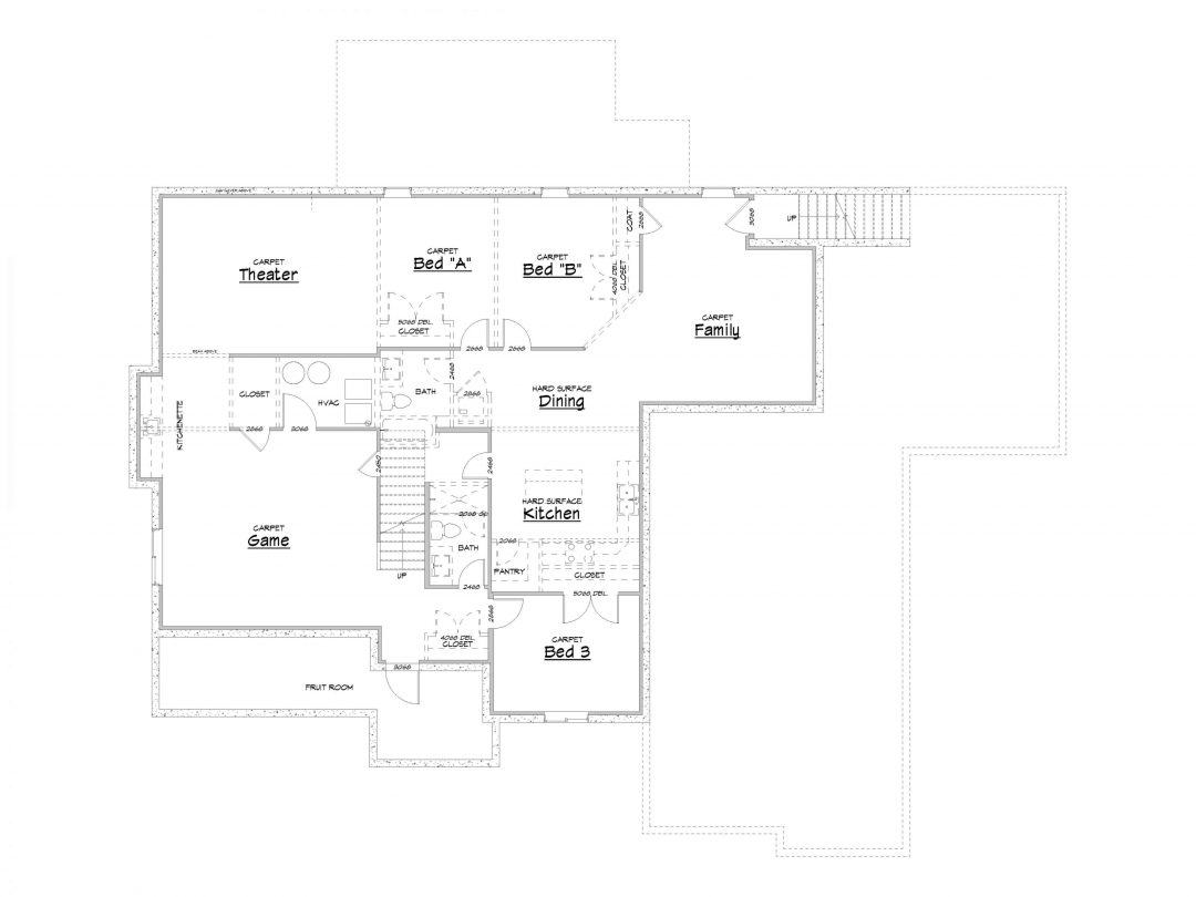 Admont Abbey Lower Level House Plan