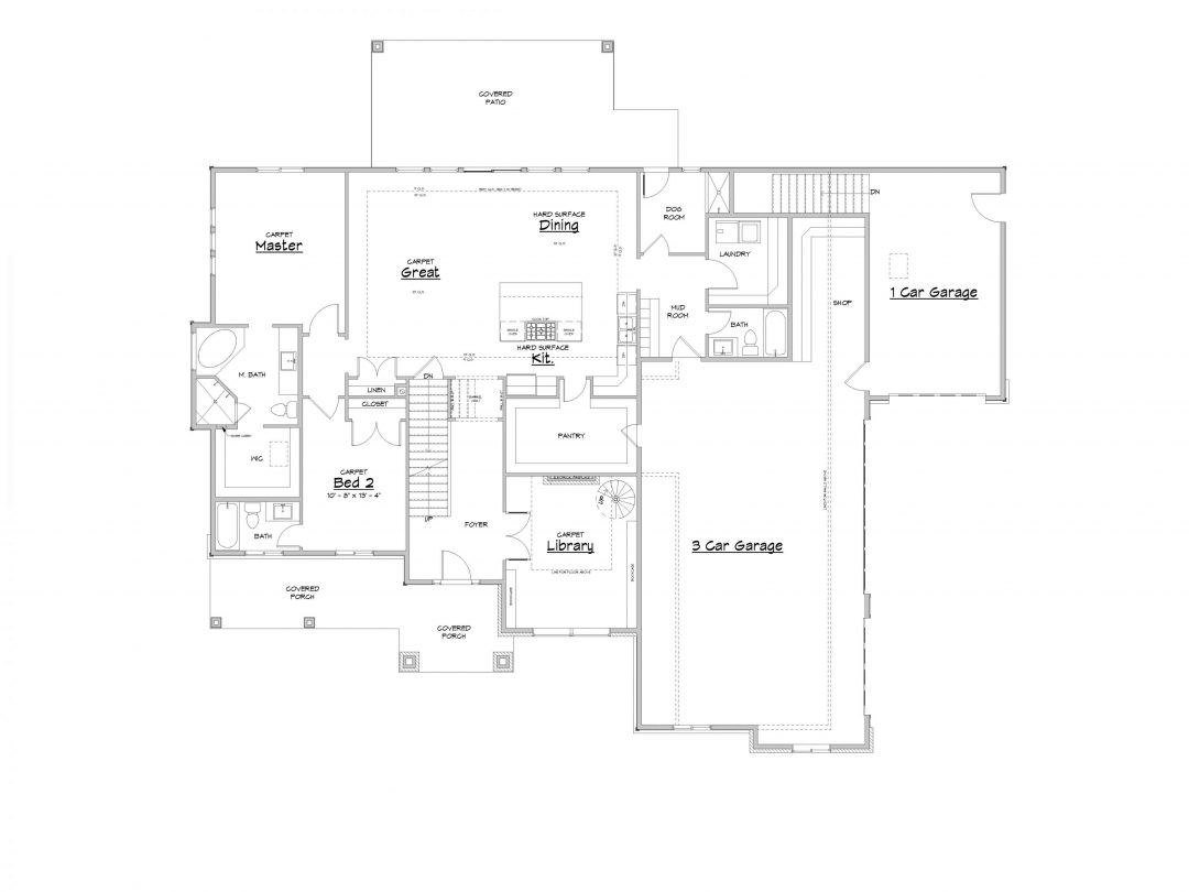 Admont Abbey Main Level House Plan