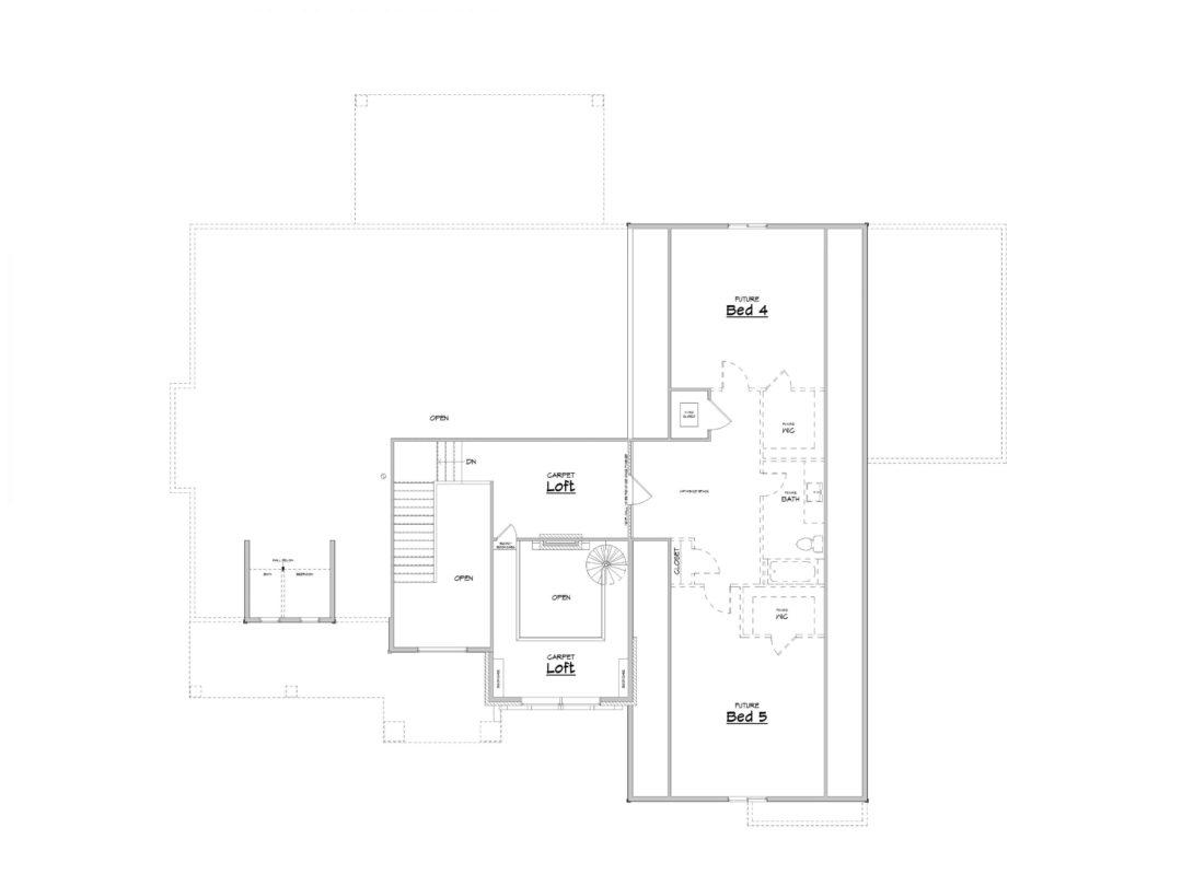 Admont Abbey Upper Level House Plan