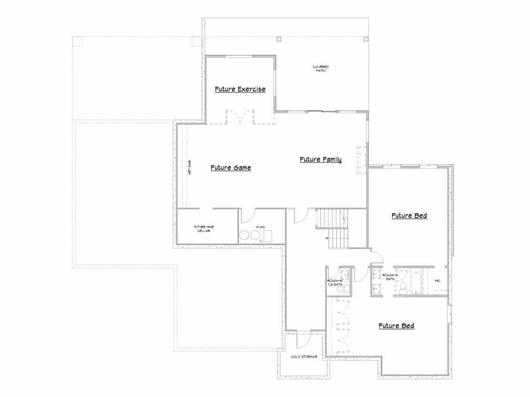Canyon Springs Lower Level House Plan