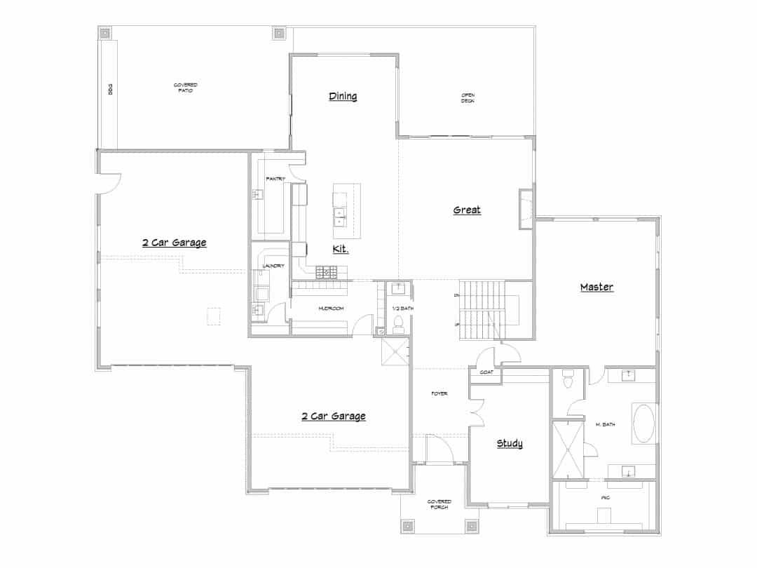 Canyon Springs Main Level House Plan