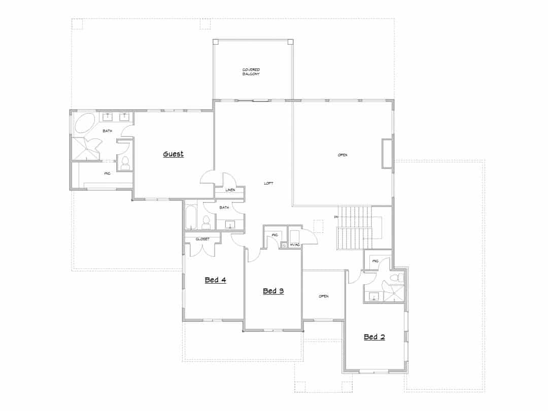 Canyon Springs Upper Level House Plan