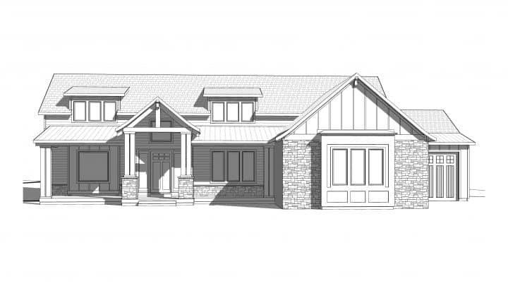 Cascade Springs Rendering House Plan