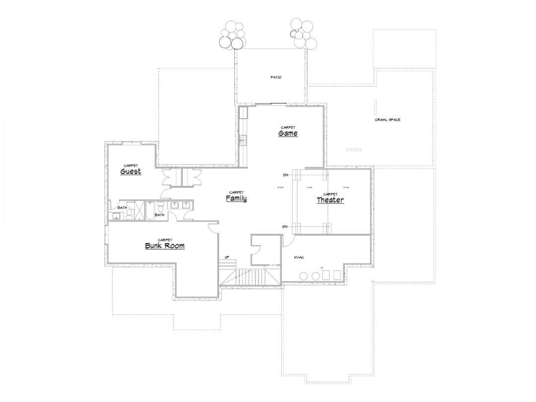 Cascade Springs Lower Level House Plan