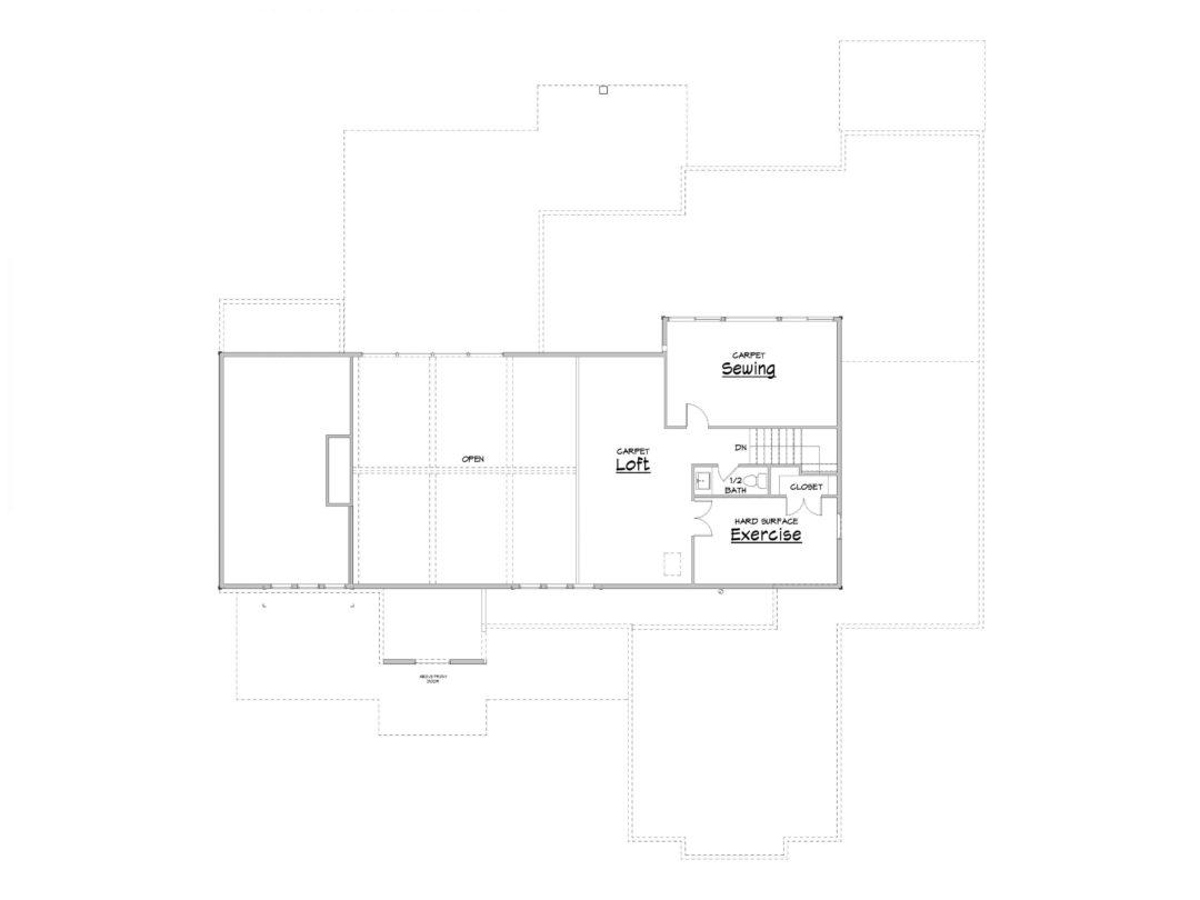 Cascade Springs Upper Level House Plan