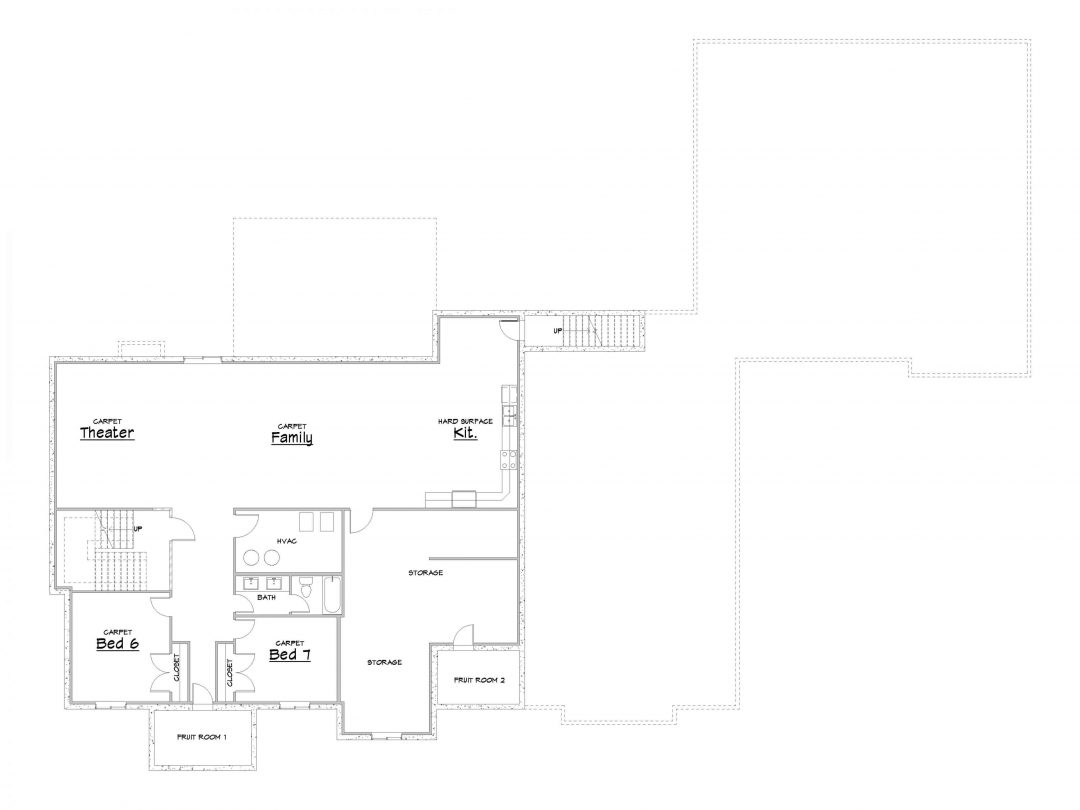 Silver Hollow Lower Level House Plan