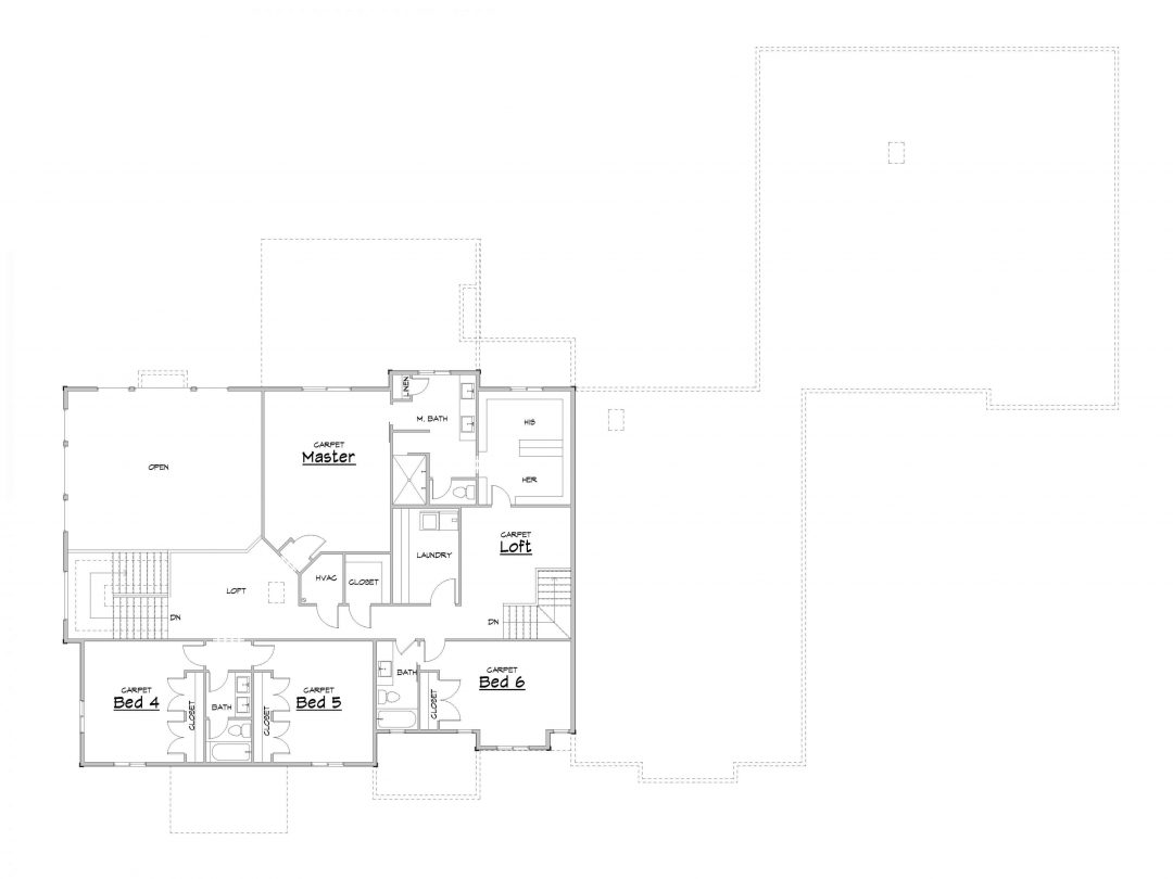 Silver Hollow Upper Level House Plan