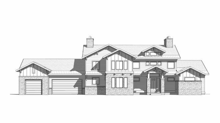 Grand Pointe House Plan Rendering