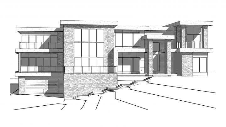 Glacier Pointe House Plan Rendering