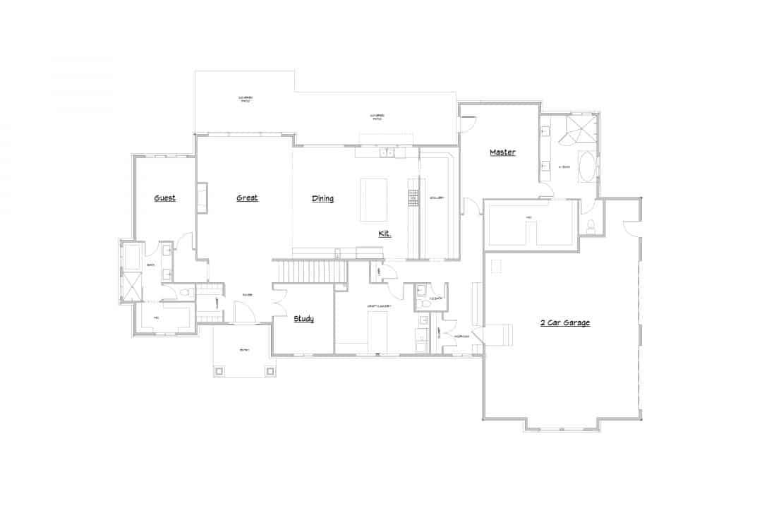 Arcola Main Level House Plan